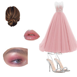 pink prom dress outfits freetoedit