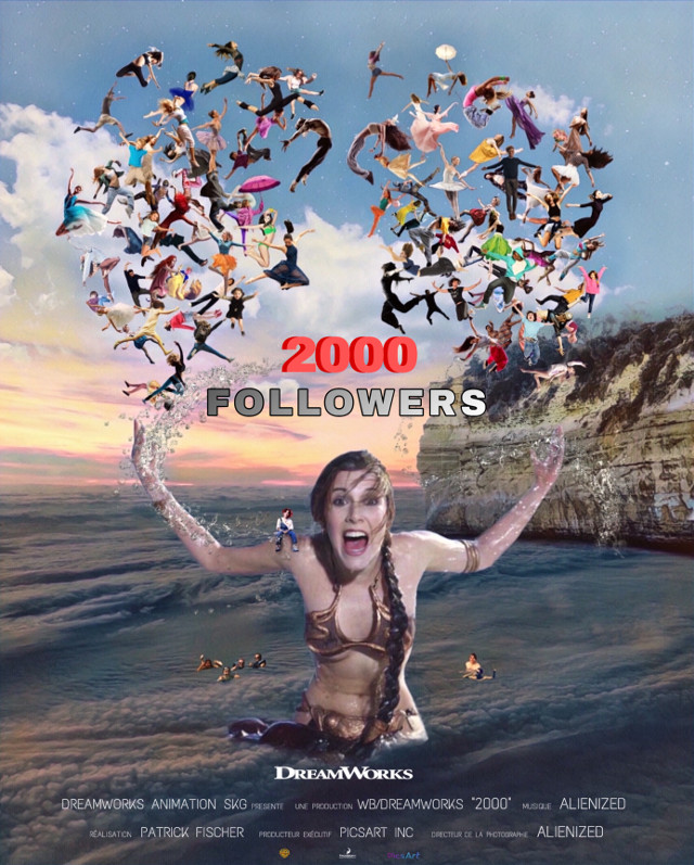 """Thank you 2000 followers """"The Movie"""" 👋🏻👽👉🏻😊 Ok there's not 2k followers in the picture but for 10k I promise to (try) to insert all of them.  👋🏻👽👉🏻 @picsart #freetoedit #movie #picsartproductions #alienized #editedwithpicsart"""