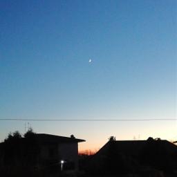 freetoedit sky cielo sunset tramonto moon