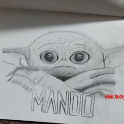 starwars babyyoda mandalorian art drawing freetoedit