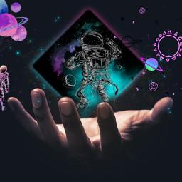 freetoedit universe astronaut galaxy tumblr ircuniverseinyourhand universeinyourhand