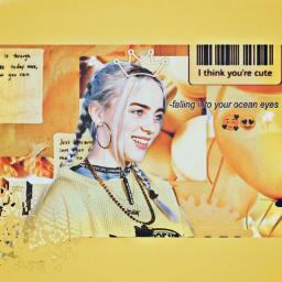 freetoedit billieeilish billieeilishedit yellow oceaneyes💛🖤 ♡•• ~her