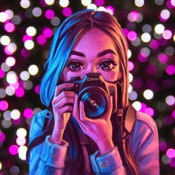freetoedit camera bokeh girl tumblrgirls
