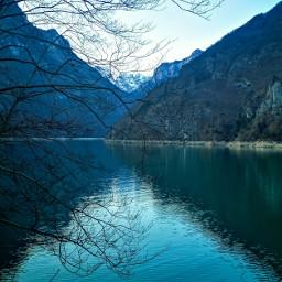 lake landscape dolomites dolomiti reflections