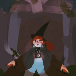 interesting art drawing people witches freetoedit