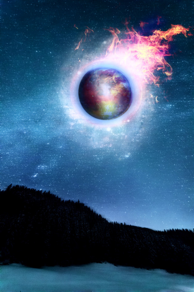 #freetoedit #fireball #space #surreal  #madewithpicsart