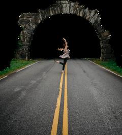 tunnel tunnelview girl woman grass freetoedit
