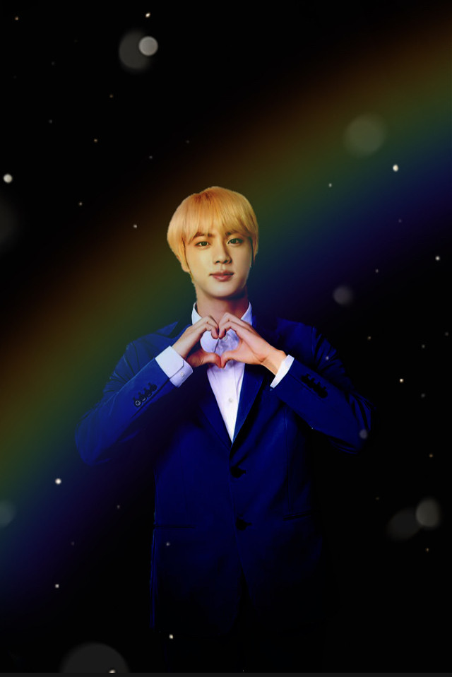 ✨Jin✨ -Black rainbow edit 🌈    #bts #BTSJin #Jin #JinBTS  #SeokJin  Just something to brighten your day.. you are amazing. You are beautiful. Don't let anyone tell you otherwise 💜