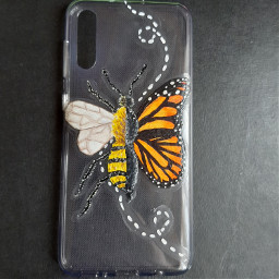 painting myart myartwork2020 bee butterfly freetoedit