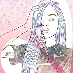 freetoedit woman neoneffect glitter glitzandglam