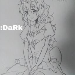 catoon draw girl princess