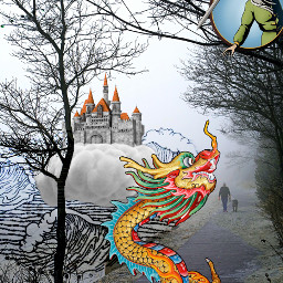 freetoedit chinese fairytale dragon fight