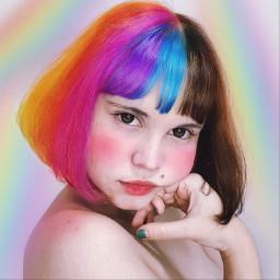 freetoedit rainbowmagiceffect rainbow rainbowhair