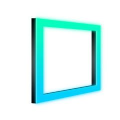 square 3d neon frame 4asno4i freetoedit ftestickers