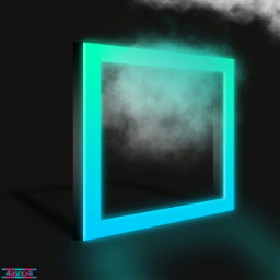 freetoedit background square 3d neon ftestickers