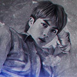 bts stars blue neon jin freetoedit