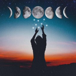 freetoedit moon moonphases stars fantasy