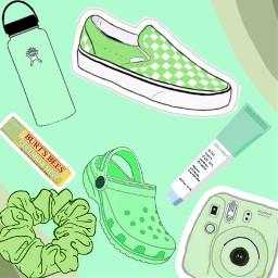 green glossier scrunchies crocs hydroflask freetoedit