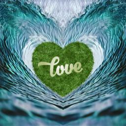 freetoedit love wave green heartwave