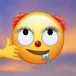 clown emoji clownemoji freetoedit