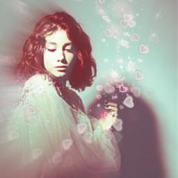portrait woman heartsbrush motiontool blureffect freetoedit