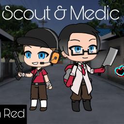 freetoedit tf2 teamfortress2 scout medic