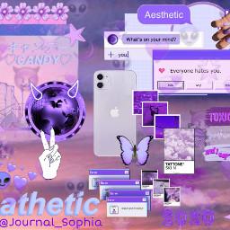purple violet pathetic aesthetic candy freetoedit