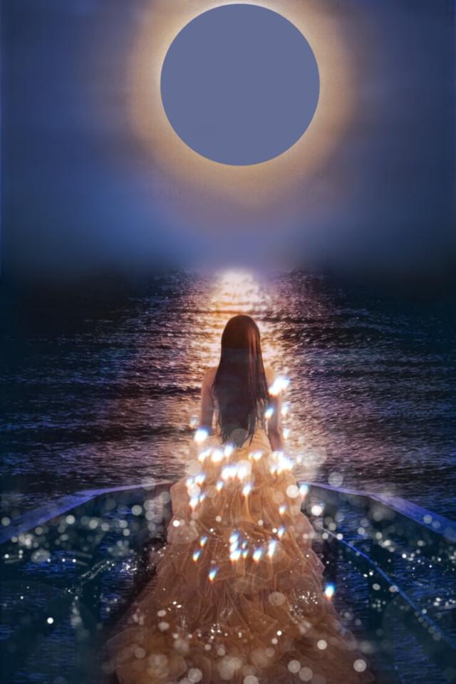 #freetoedit #eclipse #dreamy #dream #glitter #sparkly #sunset #sea #ocean #girl #beautiful #madewithpicsart #artisticedit #myedit