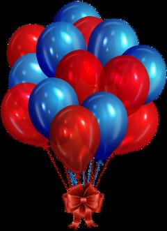 balloon redandblue freetoedit