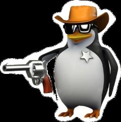 meme gun penguin freetoedit