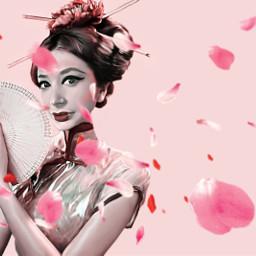 freetoedit adobephotoshop geisha portret girlpower