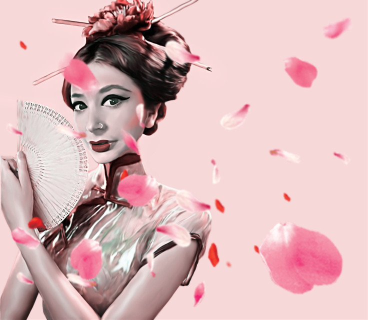 #freetoedit #adobephotoshop #geisha #portret #girlpower #petals #digitalart
