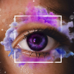 freetoedit eye occhio eyechallenge pink clouds rosa viola violet azzurro universe universe