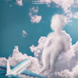 freetoedit airplane clouds sky