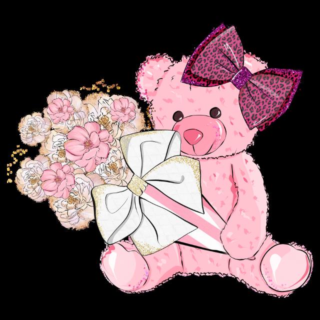 #giftsformum #itsagirl #flowers #bunchofflowers #pink #girlie #teddybear #girlgifts #bow #freetoedit