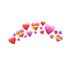 emoji emojicrown crown heart heartemoji freetoedit schearts hearts