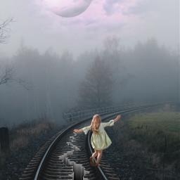 madewithpicsart imagination railway crack girl freetoedit