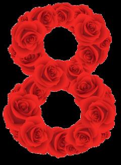 8 flower logo sticker freetoedit