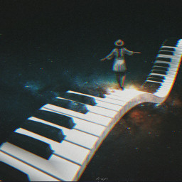 freetoedit girl piano galaxy space ircgalaxysky galaxysky
