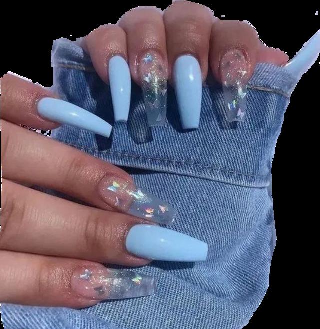 #nails #acrylics #acrylicnails #blueacrlyics #bluenails #freetoedit