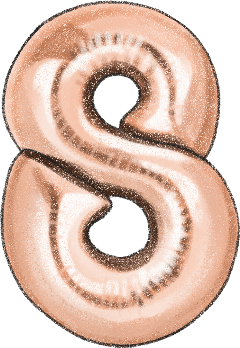 8 eight number8 rosegold numberballoons freetoedit