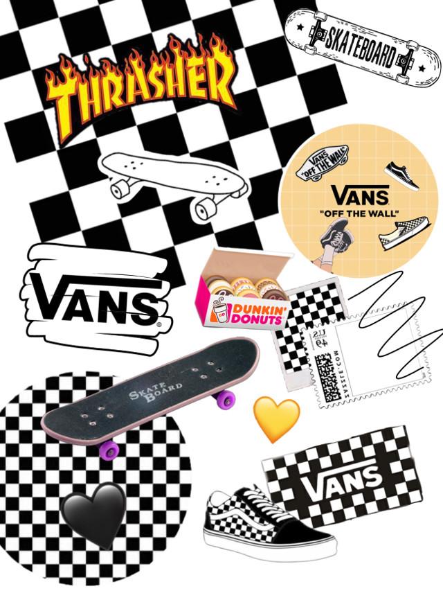 #skate 🏁🖤🏂 • • • #skateboard #vans #skatergirl #trasher #skateaestetic #skater  #freetoedit