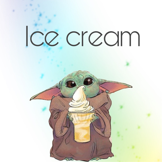 #rainbow #babyyoda #icecream  #freetoedit