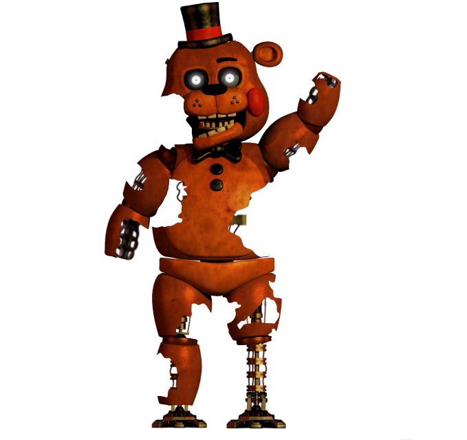 Burnt toy freddy Original model by supsorgi on deviantart