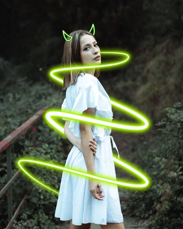 #freetoedit #neonspiral #neon #neongreen #green 💚