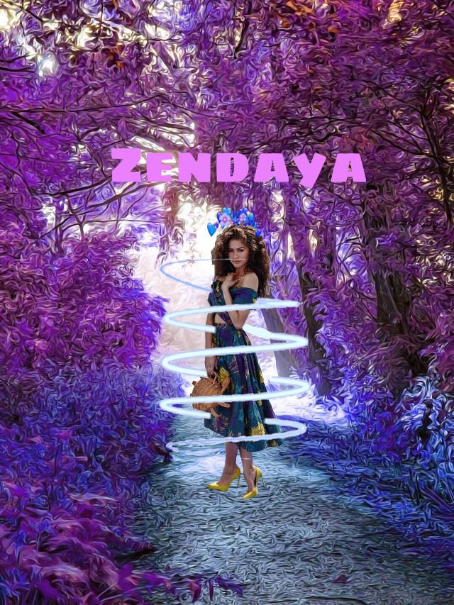 #freetoedit #zendaya #talent #thegreatestshowman #purple #blue #magenta #nature