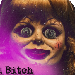 bitch hi spooky gruselig puppe freetoedit