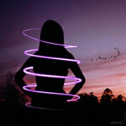 freetoedit silhouette neon neonspiral neonspiraleffect ecneonswirls neonswirls
