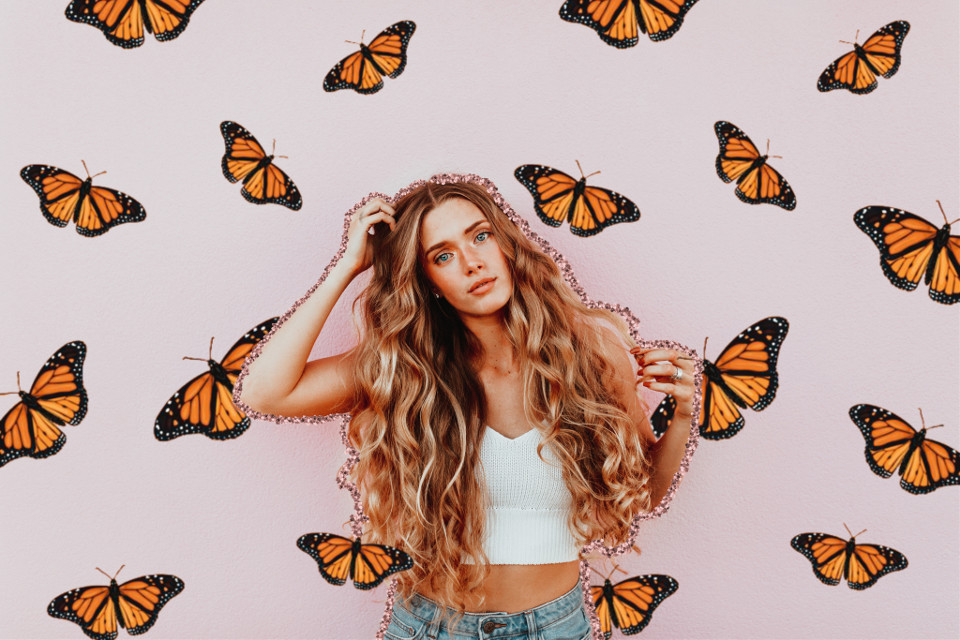#freetoedit #butterfly #aesthetic #girl