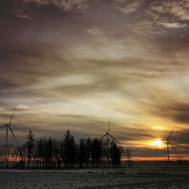 #energy #wind#sunset